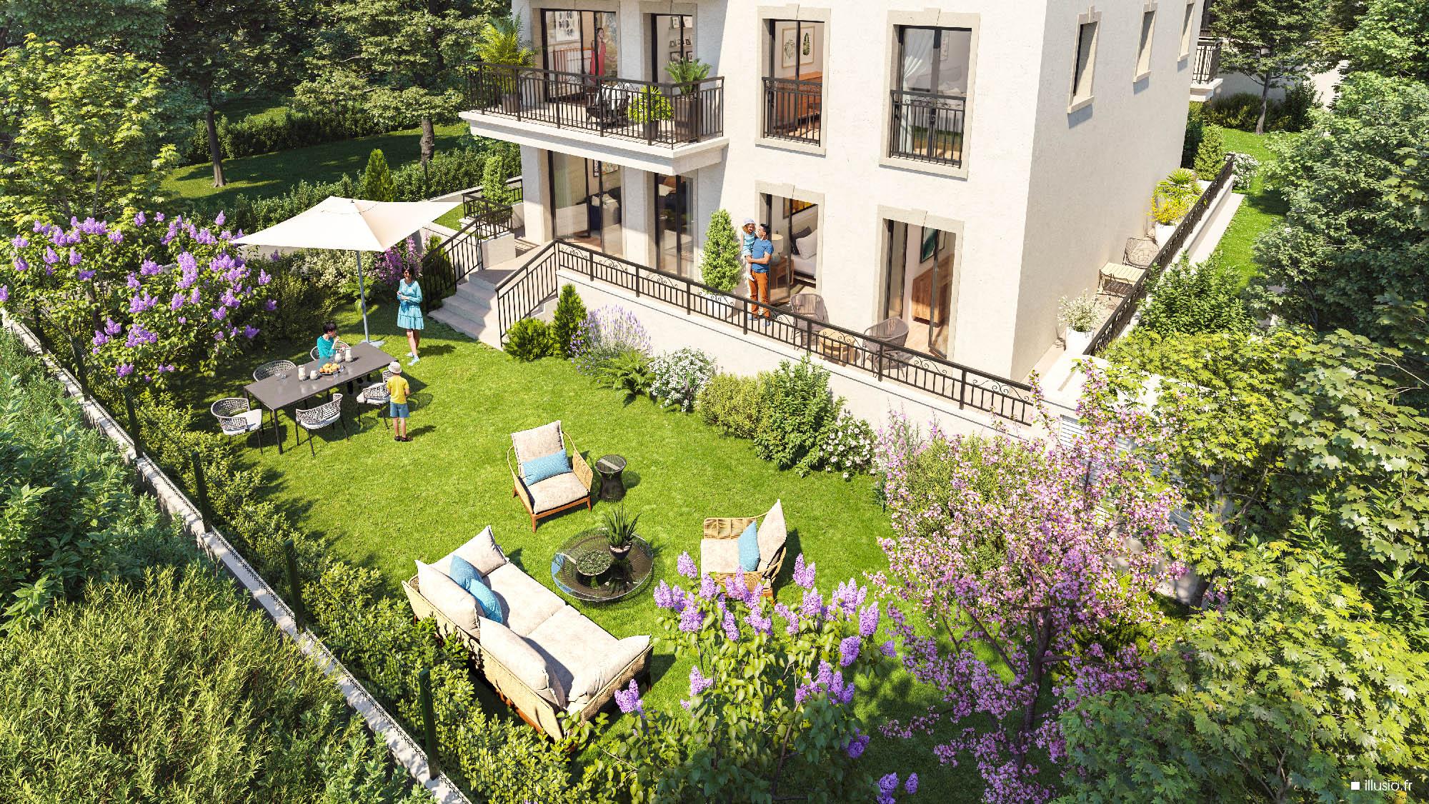 Clamart nouvelle perspective jardin